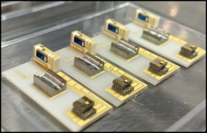 Micro-optic sub-assemblies including lasers and photodetectors